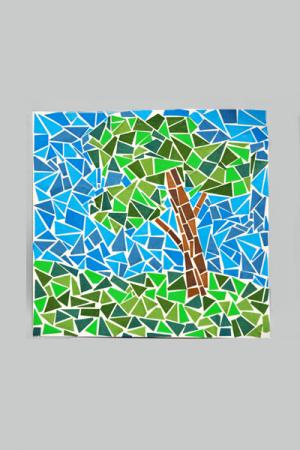 мозаика из цветной бумаги 2