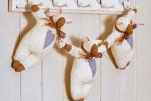мягкая игрушка овечка своими руками 7