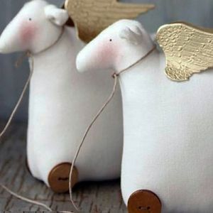 мягкая игрушка овечка своими руками 9