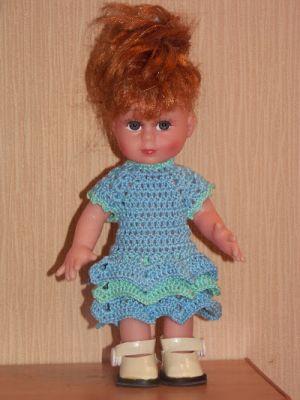 одежда для кукол крючком 1