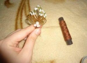 орхидея из бисера мастер класс18