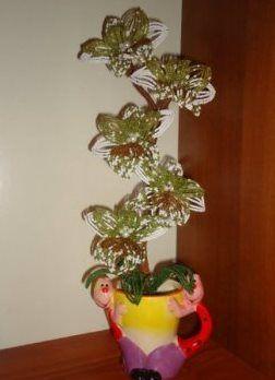 орхидея из бисера мастер класс27