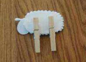 овечка из ватных палочек 5