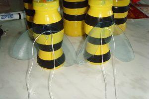 Пчелы из пластиковых бутылок12
