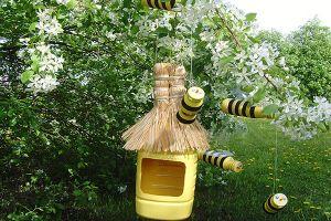 Пчелы из пластиковых бутылок16