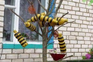 Пчелы из пластиковых бутылок17