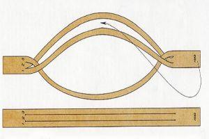 плетение браслетов из шнурков7