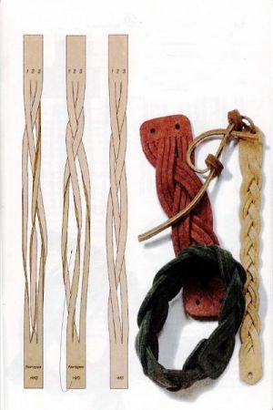 плетение браслетов из шнурков8