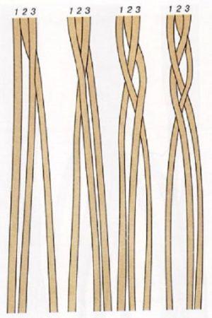 плетение браслетов из шнурков9