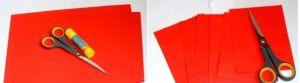 поделка из цветной бумаги яблочко 1
