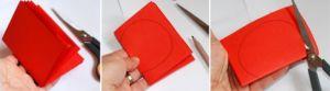поделка из цветной бумаги яблочко 2