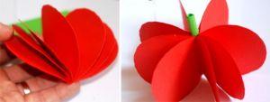 поделка из цветной бумаги яблочко 4