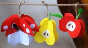 поделка из цветной бумаги яблочко 5