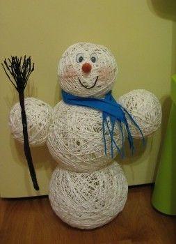 поделка снеговик своими руками 17