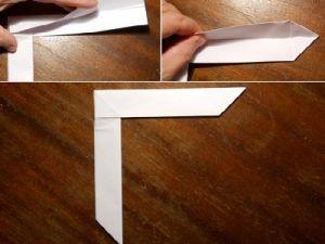 как сделать из бумаги бумеранг 7