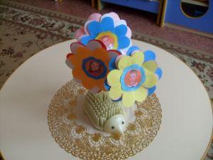 поделки из цветной бумаги цветы 8