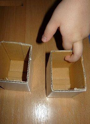 поделки из картона домик 2
