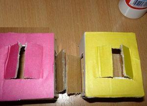 поделки из картона домик 4