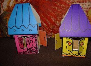 поделки из картона домик 6