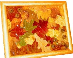 поделки из листьев 13