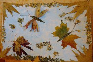 поделки из листьев 14
