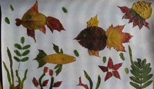 поделки из листьев 16