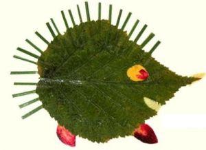 поделки из листьев 4