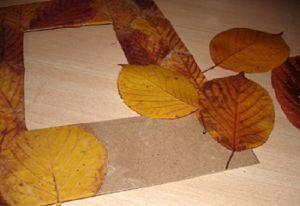 поделки из листьев 9
