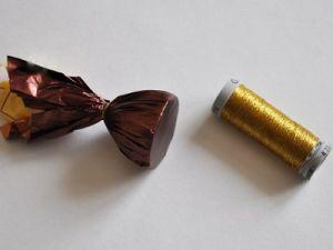 подсолнухи из конфет мастер класс4