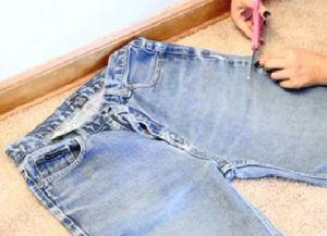 рваные джинсовые шорты своими руками 3