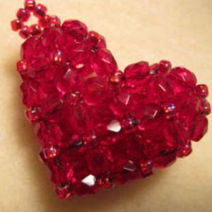 сердце из бисера схема 12