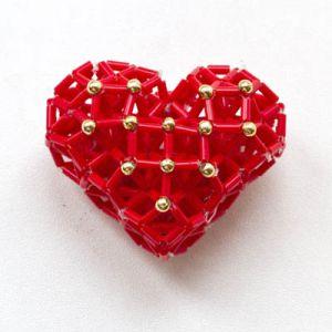сердце из бисера схема 14