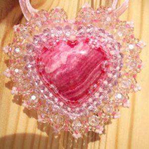 сердце из бисера схема 15