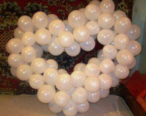 сердце из шаров своими руками15