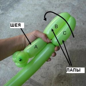 как сделать из шарика собачку5