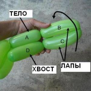 как сделать из шарика собачку7