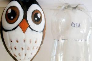 сова из пластиковых бутылок19
