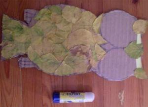 сова из листьев4