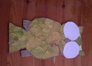сова из листьев6