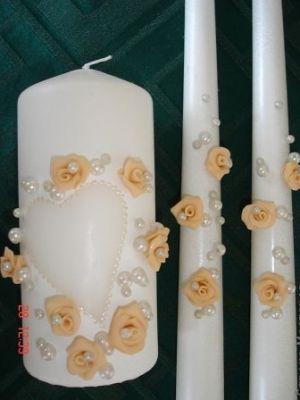 свадебные свечи своими руками22