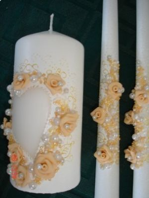 свадебные свечи своими руками24