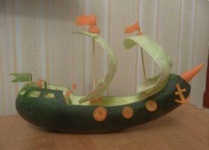корабль из кабачка9