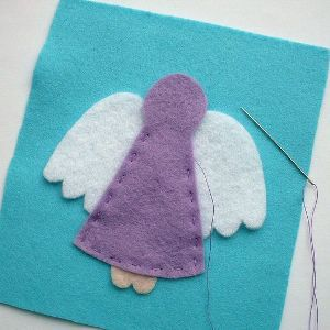 Ангел из фетра3