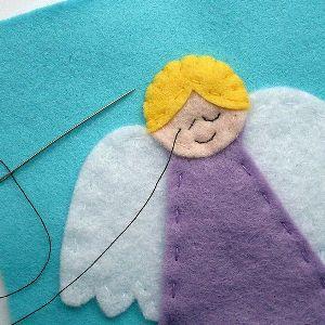 Ангел из фетра7