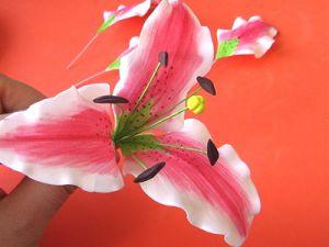 Цветы из фоамирана - мастер-класс22