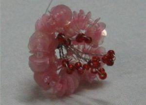 Цветы из паеток9