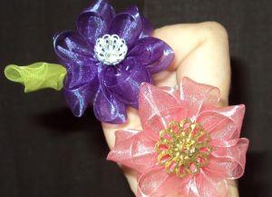 Цветы из органзы своими руками33