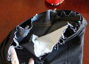 Джинсы для беременных своими руками15