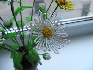 Хризантема из бисера - мастер-класс11
