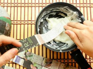 как делать папье маше тарелку 7